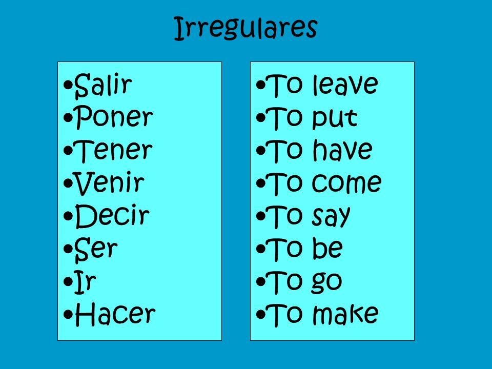 Fill in with the tú command comer = ___________________ jugar = ____________________ escribir = ___________________ volver = ___________________ cruza