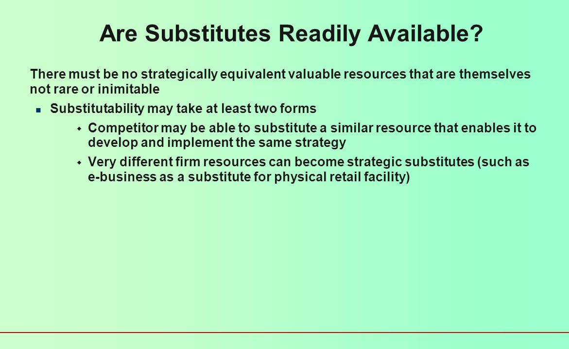 Can the Resource be Imitated.