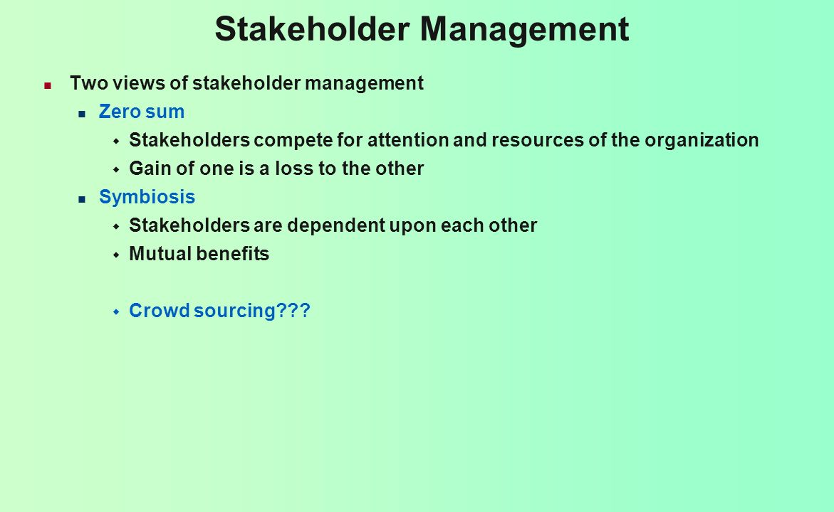 Corporate Governance Corporate governance: the relationship among various participants in determining the direction and performance of corporations Shareholders Management (led by the CEO) Board of directors