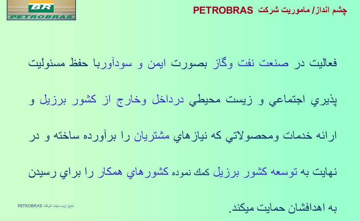 چشم انداز/ ماموريت شركت PETRONAS شركت چند مليتي پيشرو و برتر در صنعت نفت وگاز و مورد انتخاب در عرصه بين المللي Source: Petronas website