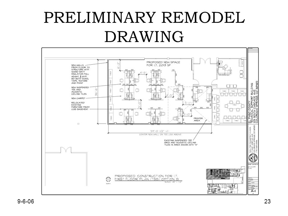 PRELIMINARY REMODEL DRAWING