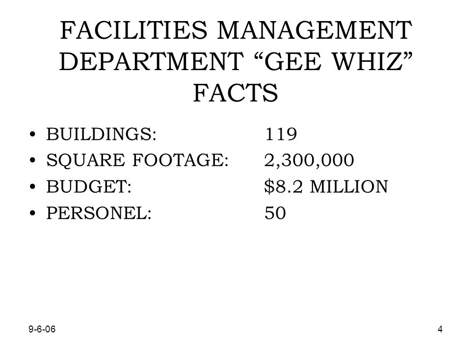 9-6-065 TYPES OF FACILITES DOWNTOWN COMPLEX, 8 MAJOR BUILDINGS COUNTY OFFICE BUILDING, PIKES PEAK CENTER, ROBERT L.