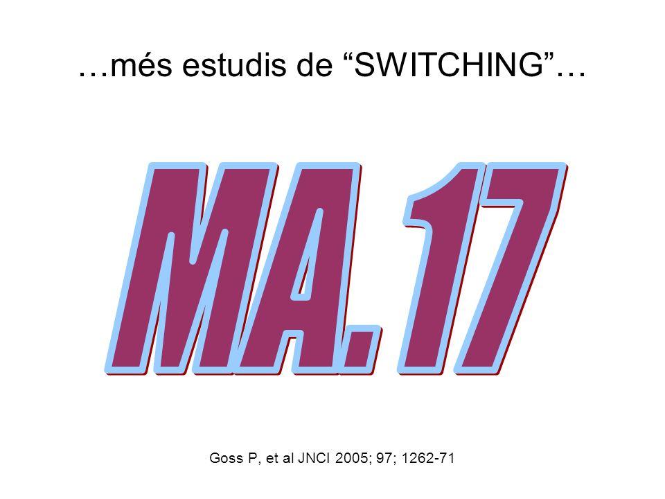 …més estudis de SWITCHING… Goss P, et al JNCI 2005; 97; 1262-71