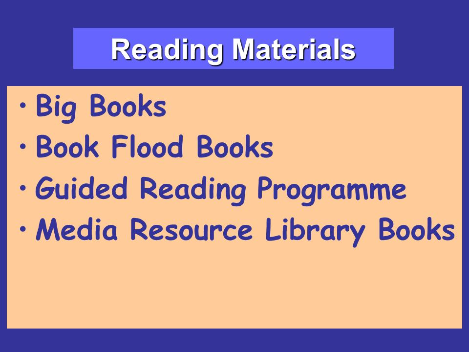 Big Books Book Flood Books Guided Reading Programme Media Resource Library Books Reading Materials