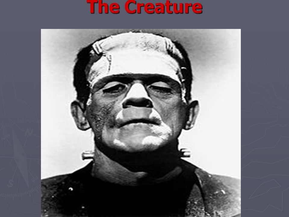 The Creature states: Frankenstein.