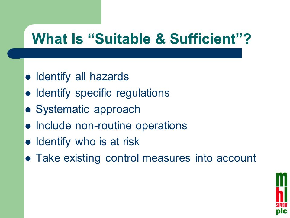 What Is Suitable & Sufficient.