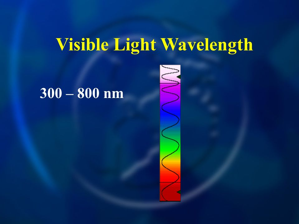 Visible Light Wavelength 300 – 800 nm
