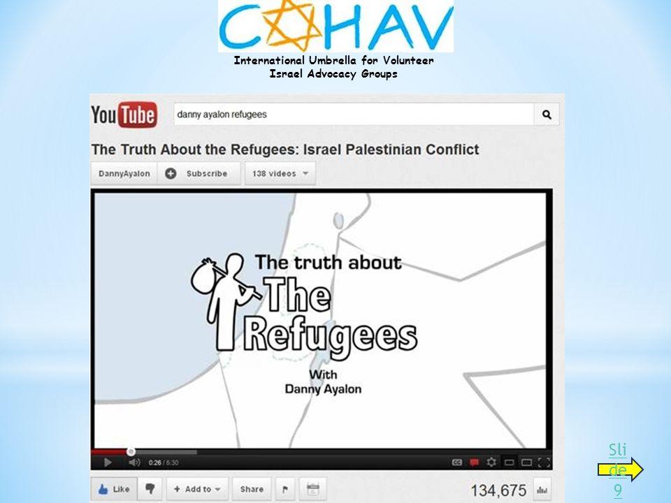 International Umbrella for Volunteer Israel Advocacy Groups Sli de 9
