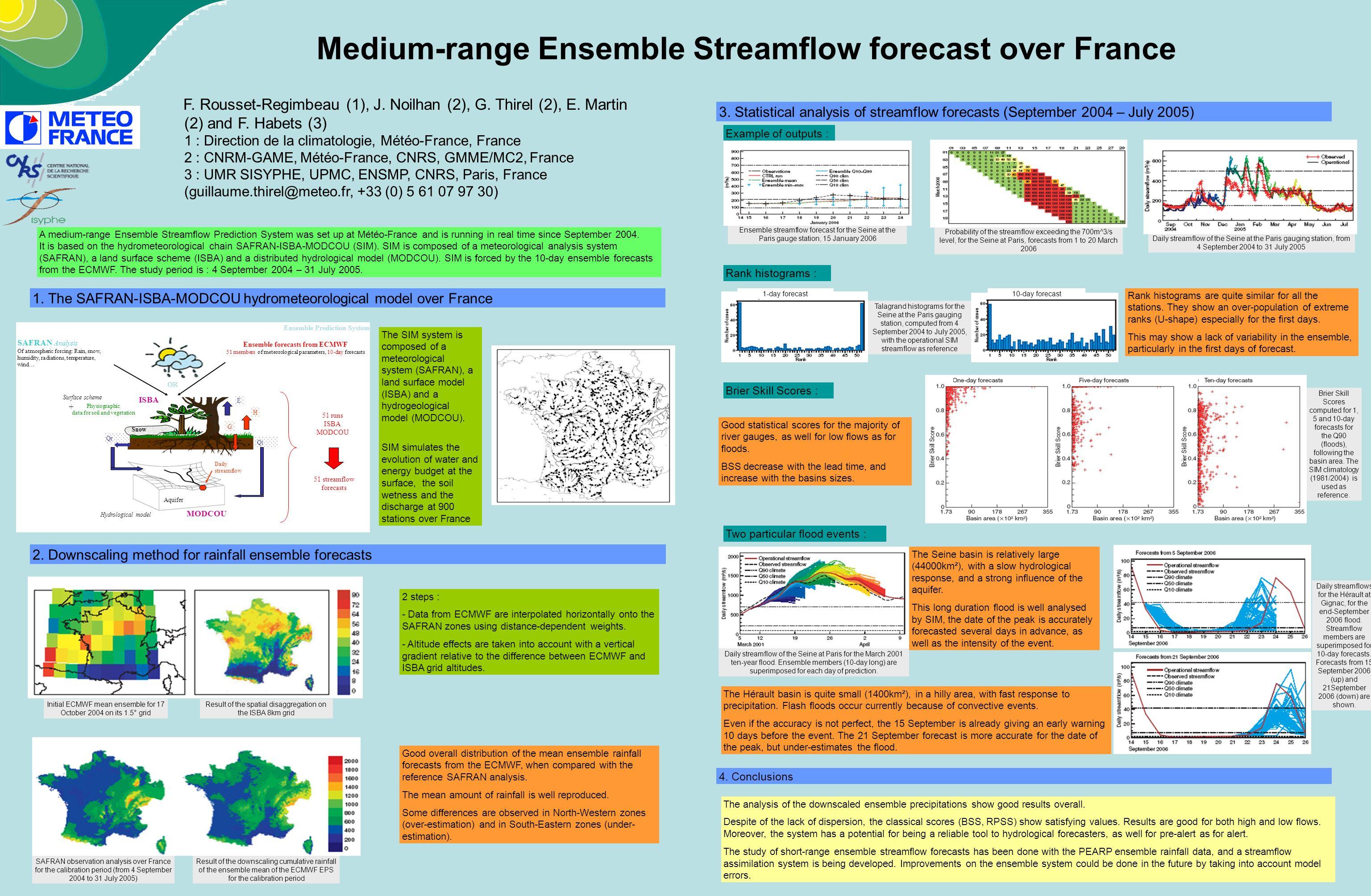 Medium-range Ensemble Streamflow forecast over France F.