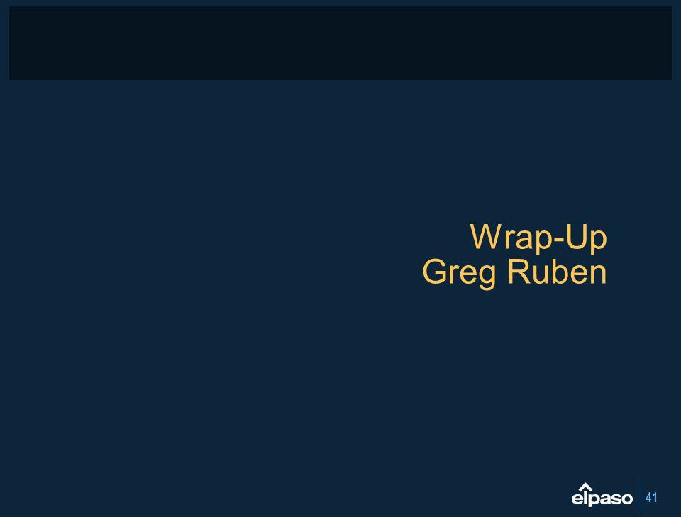 41 Wrap-Up Greg Ruben