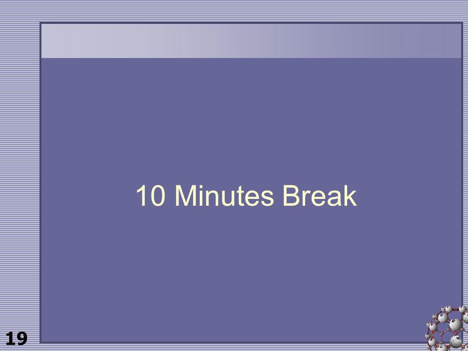 19 10 Minutes Break