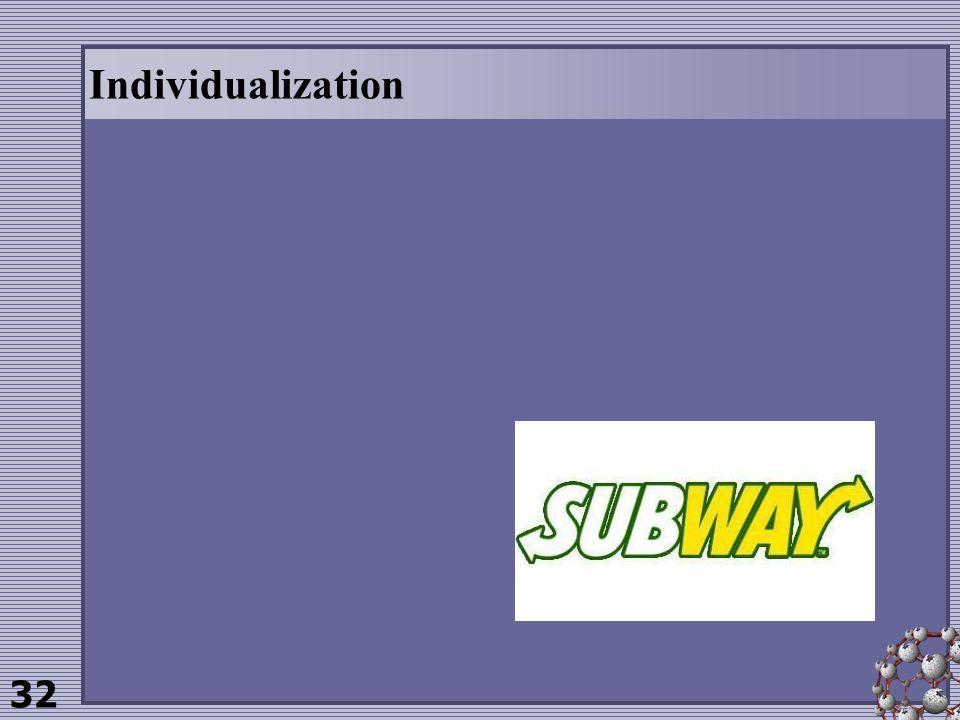 32 Individualization
