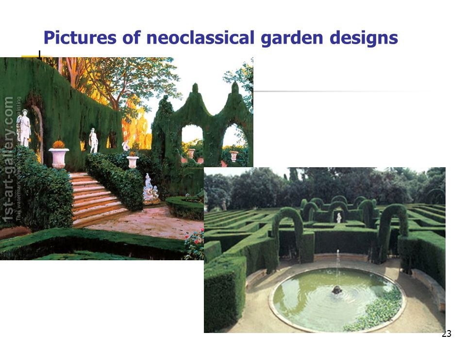 23 Pictures of neoclassical garden designs