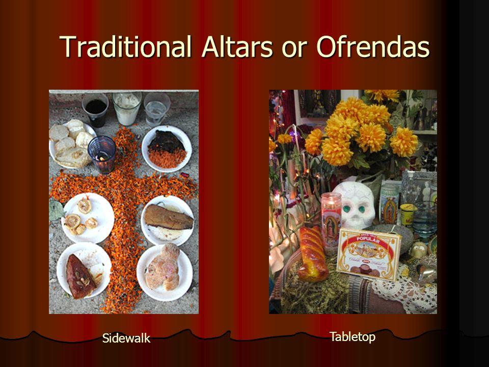 Traditional Altars or Ofrendas Sidewalk Tabletop