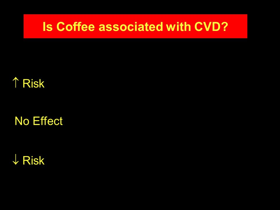 Risk No Effect Is Coffee associated with CVD?