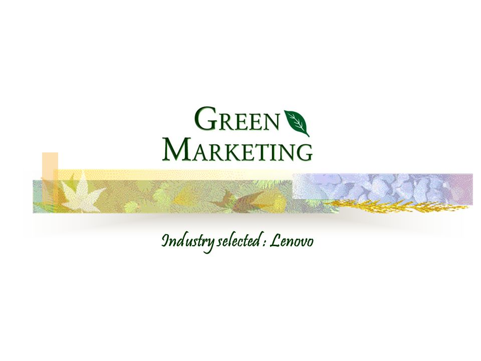 What is Green Marketing.