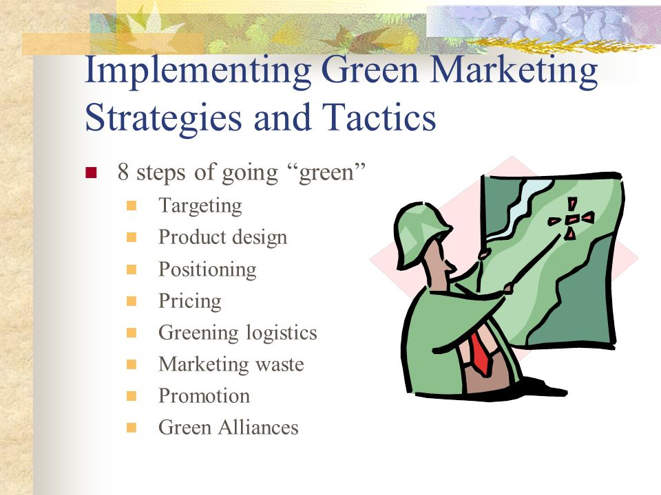 Problems with Green Marketing Ensure that their activities are not misleading to consumers or industry Do not breach any of the regulations or laws dealing with environmental marketing Remember that consumers perceptions are sometimes not correct The environmentally responsible action of today might be harmful in the future
