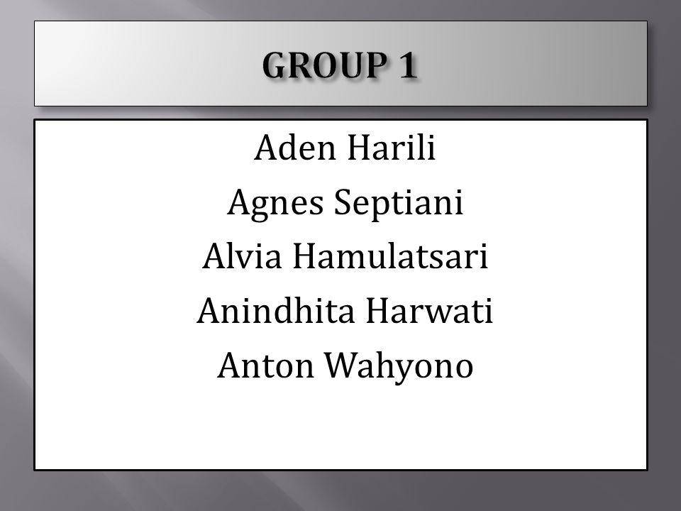 Aden Harili Agnes Septiani Alvia Hamulatsari Anindhita Harwati Anton Wahyono