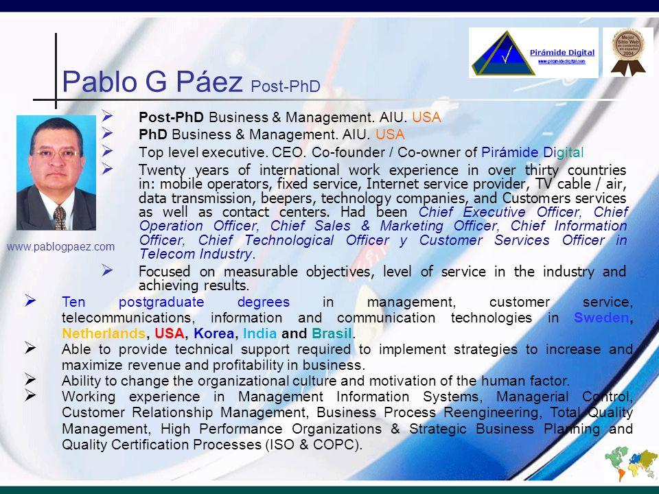 Pablo G Páez Post-PhD Post-PhD Business & Management.
