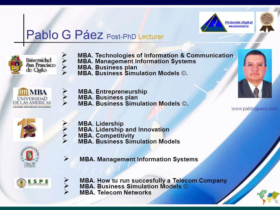 MBA. Technologies of Information & Communication MBA.
