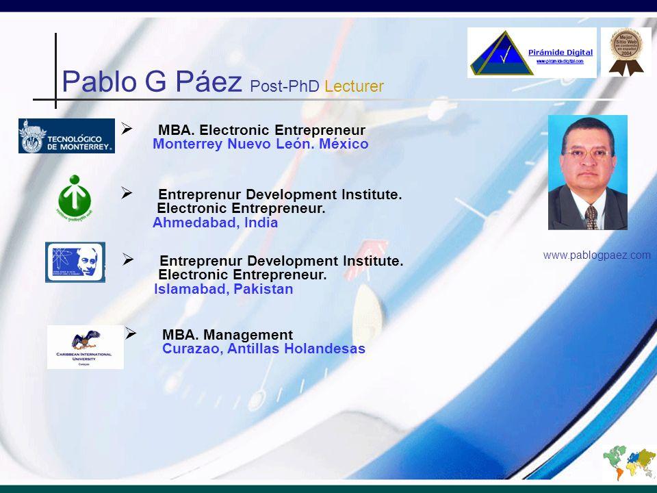 MBA. Electronic Entrepreneur Monterrey Nuevo León.