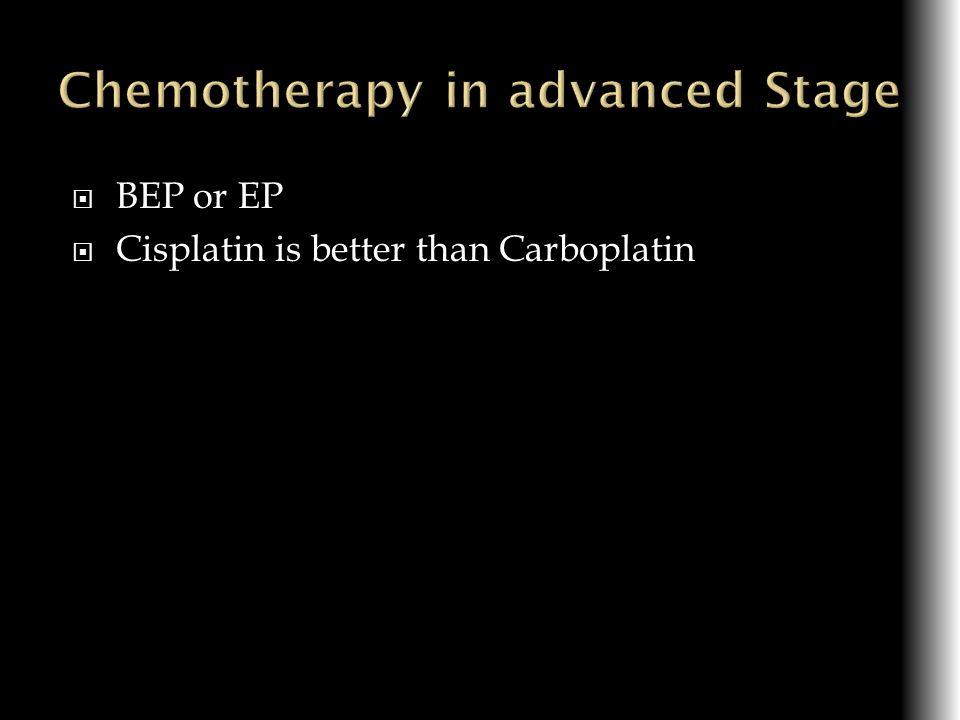 BEP or EP Cisplatin is better than Carboplatin