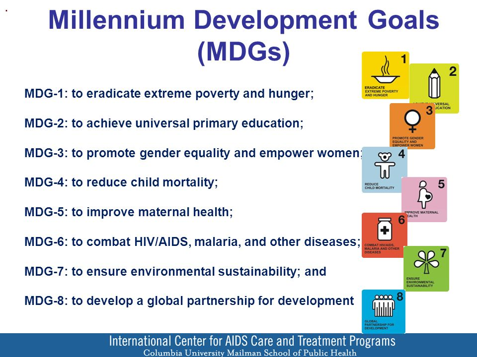 Millennium Development Goals (MDGs).