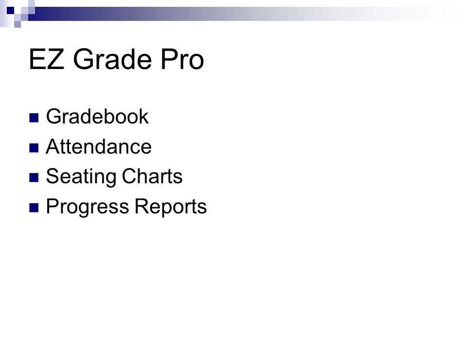EZ Grade Pro Gradebook Attendance Seating Charts Progress Reports
