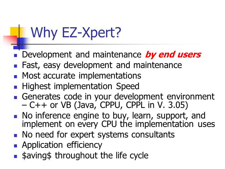 Why EZ-Xpert.
