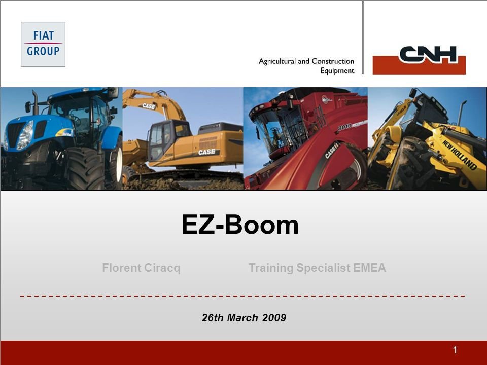1 EZ-Boom Florent CiracqTraining Specialist EMEA 26th March 2009