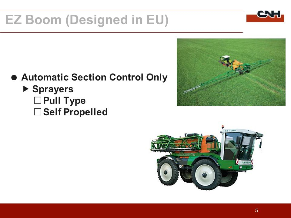 5 Automatic Section Control Only Sprayers Pull Type Self Propelled EZ Boom (Designed in EU)