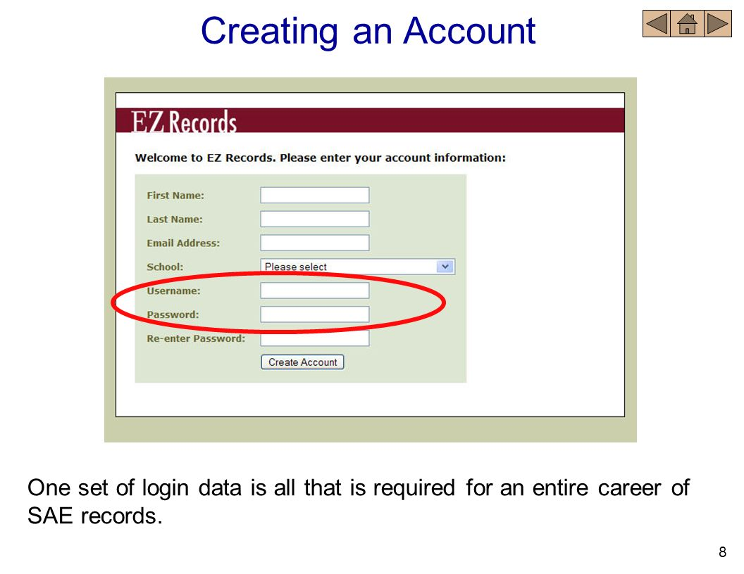 Login into the Record Book Forgotten login Enter your e-mail address in the space provided. 19