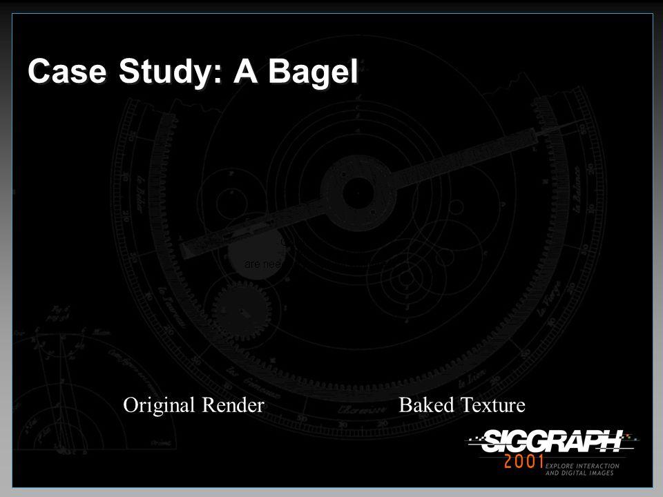 Case Study: A Bagel Original Render Baked Texture