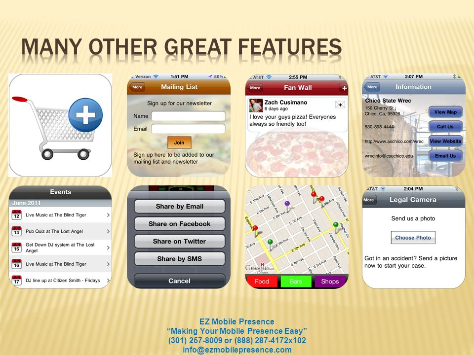 Update your customers instantly - Special offers, updates, happy hours.