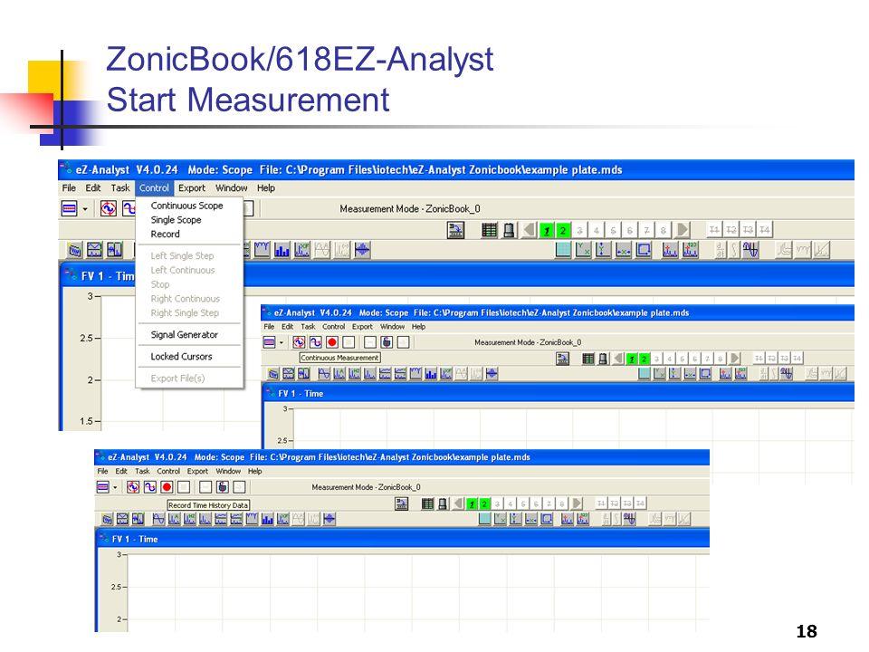 18 ZonicBook/618EZ-Analyst Start Measurement
