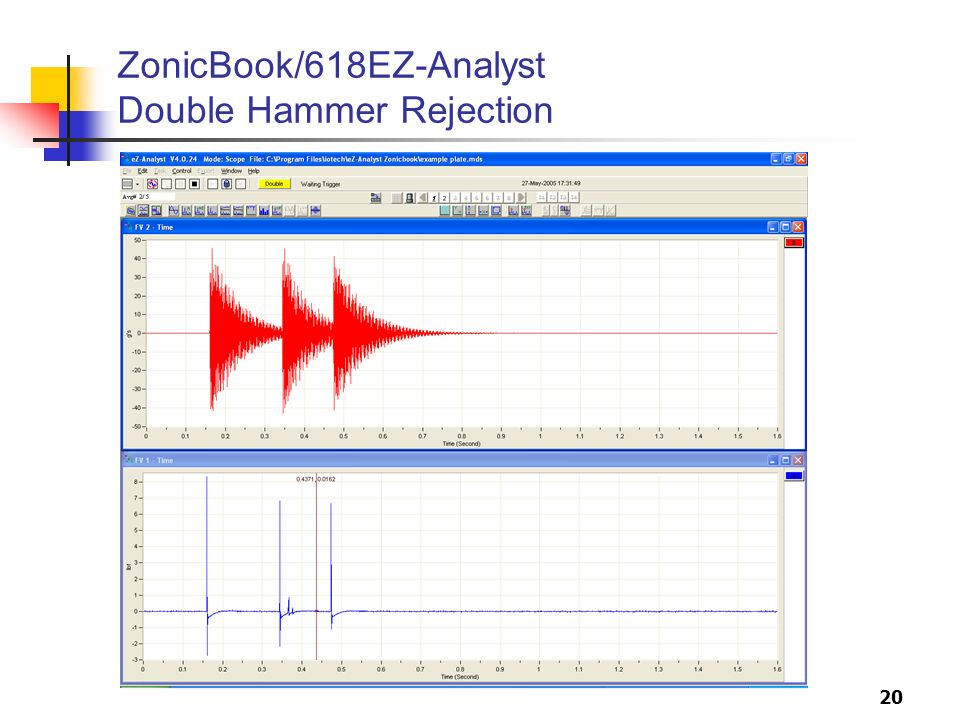 20 ZonicBook/618EZ-Analyst Double Hammer Rejection