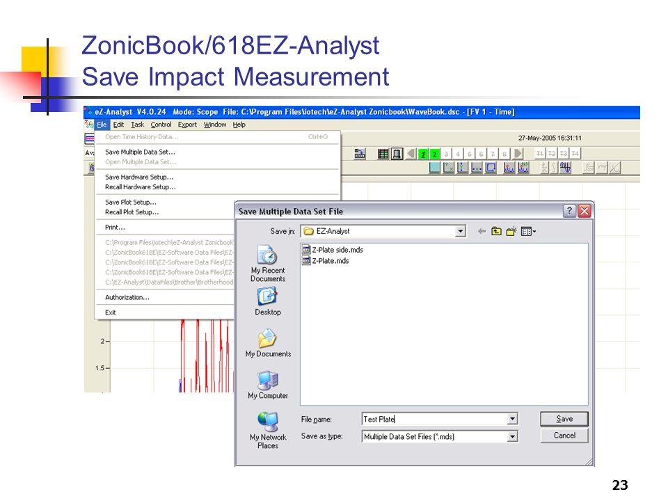 23 ZonicBook/618EZ-Analyst Save Impact Measurement
