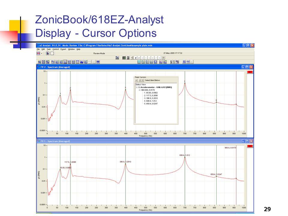 29 ZonicBook/618EZ-Analyst Display - Cursor Options