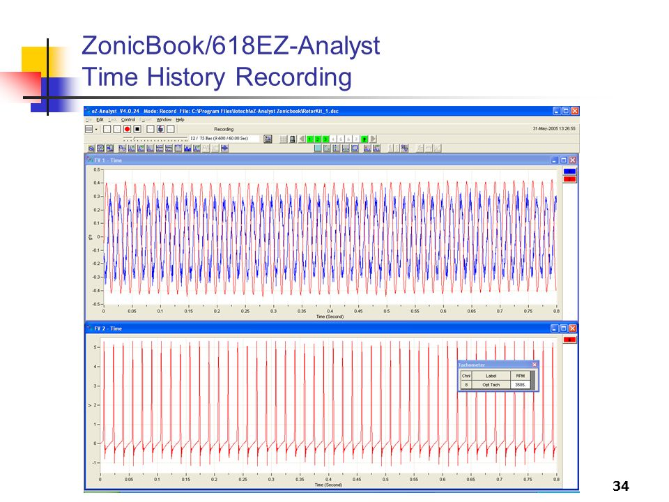 34 ZonicBook/618EZ-Analyst Time History Recording