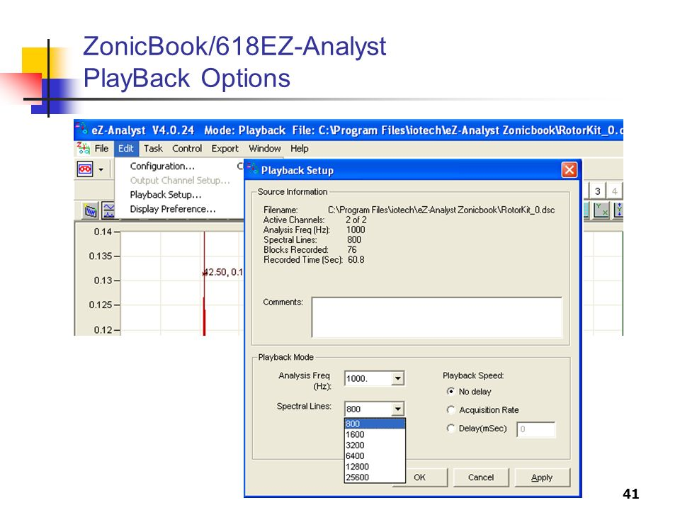 41 ZonicBook/618EZ-Analyst PlayBack Options