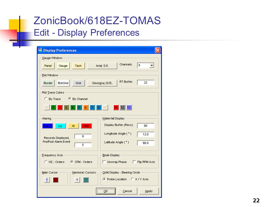 22 ZonicBook/618EZ-TOMAS Edit - Display Preferences
