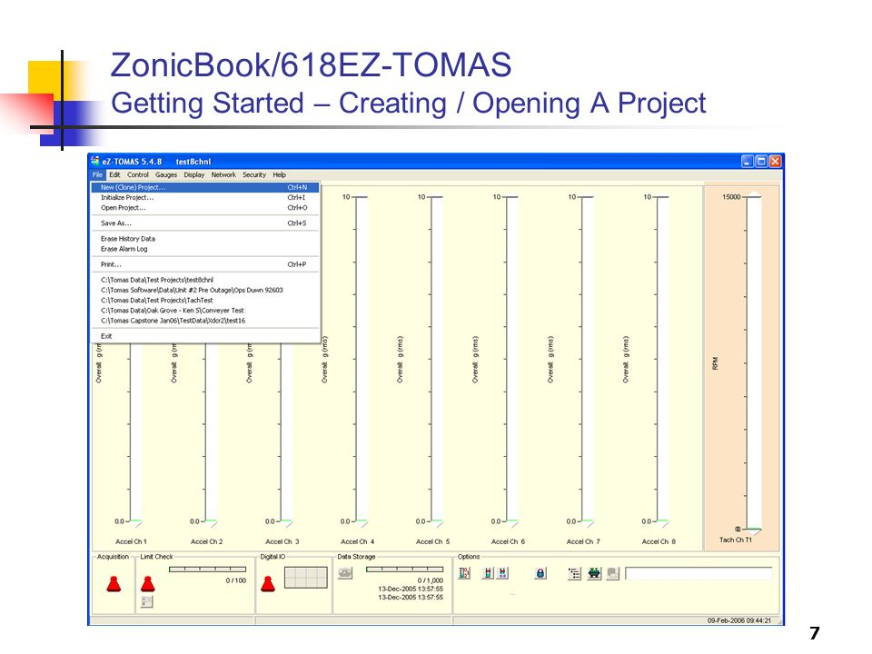 7 ZonicBook/618EZ-TOMAS Getting Started – Creating / Opening A Project