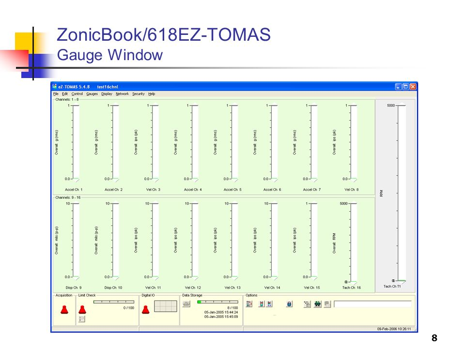 8 ZonicBook/618EZ-TOMAS Gauge Window