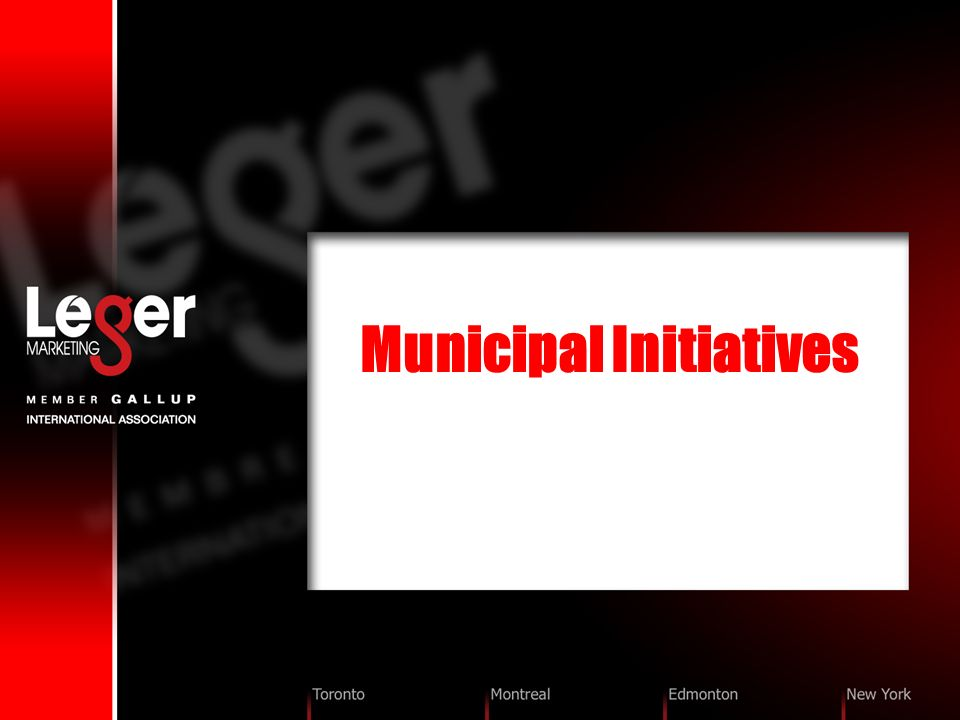 Municipal Initiatives