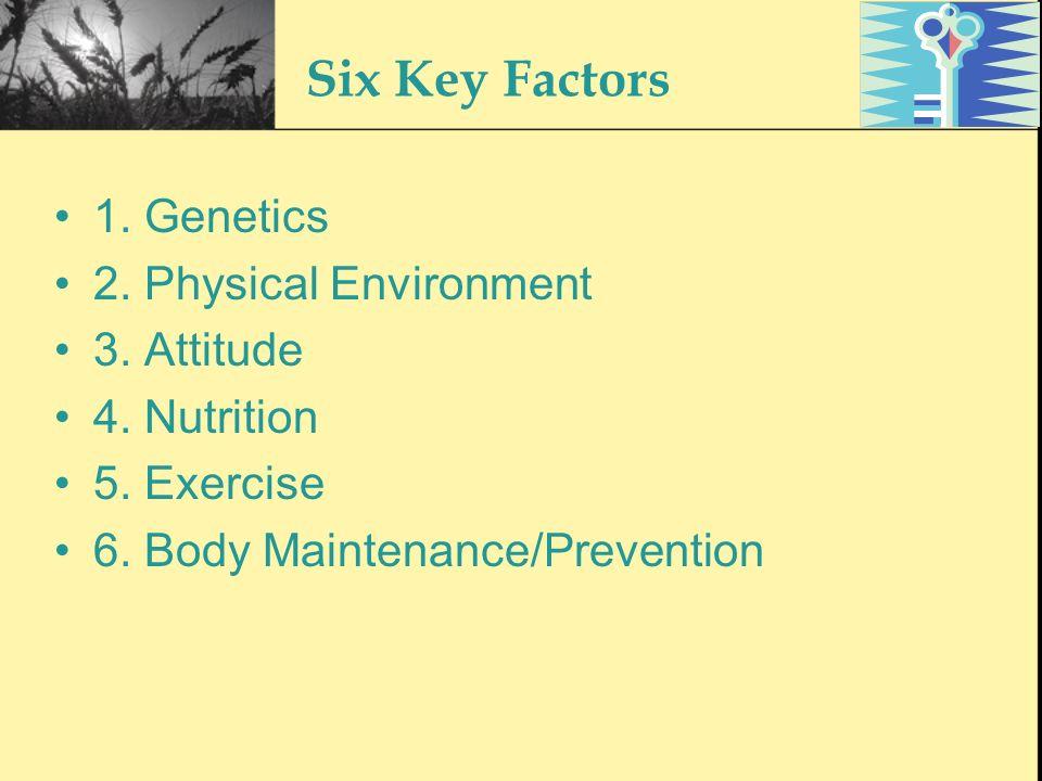 Genetics – The Bodys Blueprint The genetic susceptibility towards diseases i.e.