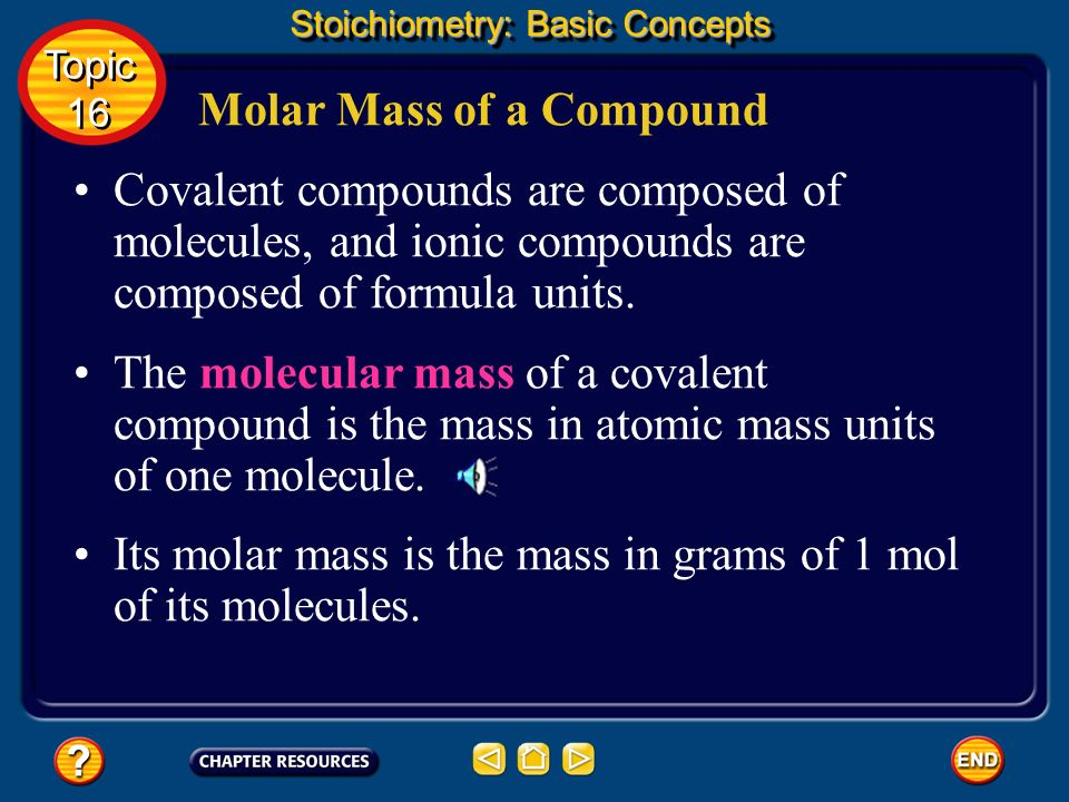 Simplify the expression above. Stoichiometry: Basic Concepts Topic 16 Topic 16 Number of Atoms in a Sample of an Element