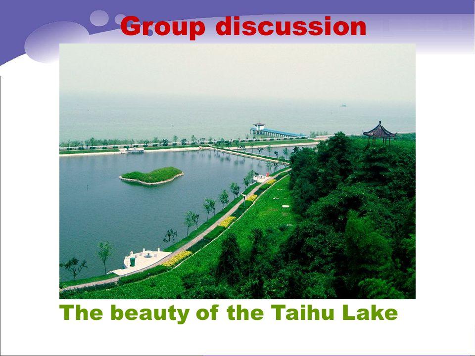 The beauty of the Taihu Lake