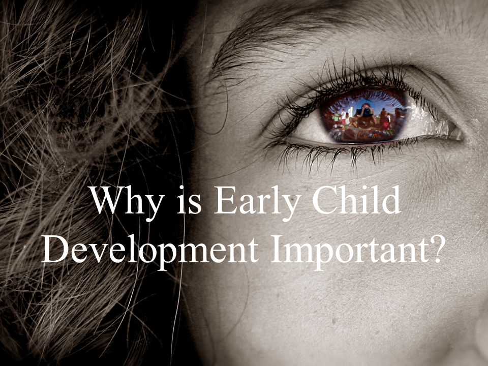 COUNCIL FOR EARLY CHILD DEVELOPMENT Why is Early Child Development Important?