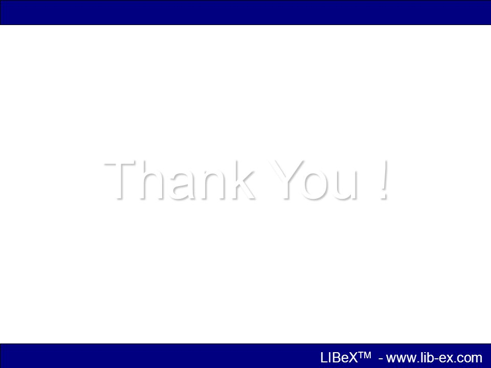 Thank You ! LIBeX TM -