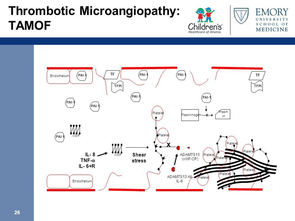 26 Thrombotic Microangiopathy: TAMOF